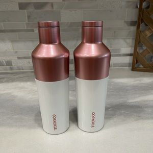 NEW Corkcicle Rose Gold Canteen Bundle of 2!